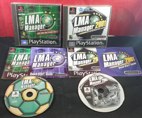 LMA Manager & LMA Manager 2001 with Quick Start Guides Sony Playstation 1 (PS1) Game Bundle