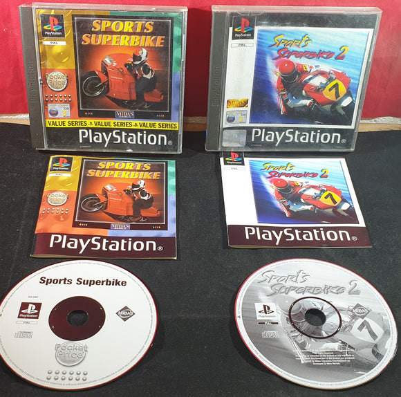 Sports Superbike 1 & 2 Sony Playstation 1 (PS1) Game Bundle