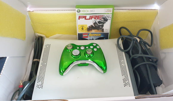 Microsoft Xbox 360 Console with 60 GB Hard Drive plus Pure & Lego Batman in Customised Gift Box