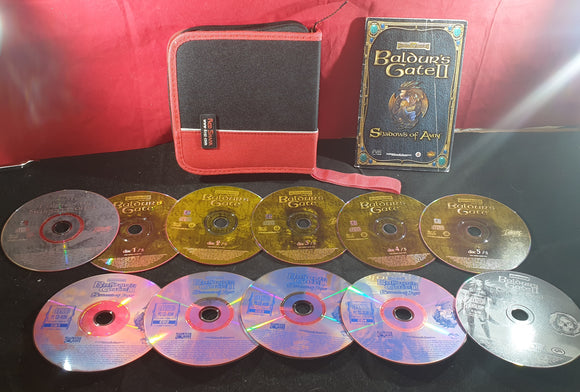 Baldurs Gate 1 + Expansion & Baldurs Gate II + Expansion PC Discs Only in Carry Case