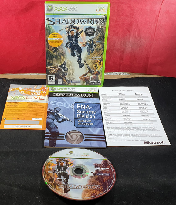 Shadowrun Microsoft Xbox 360 Game