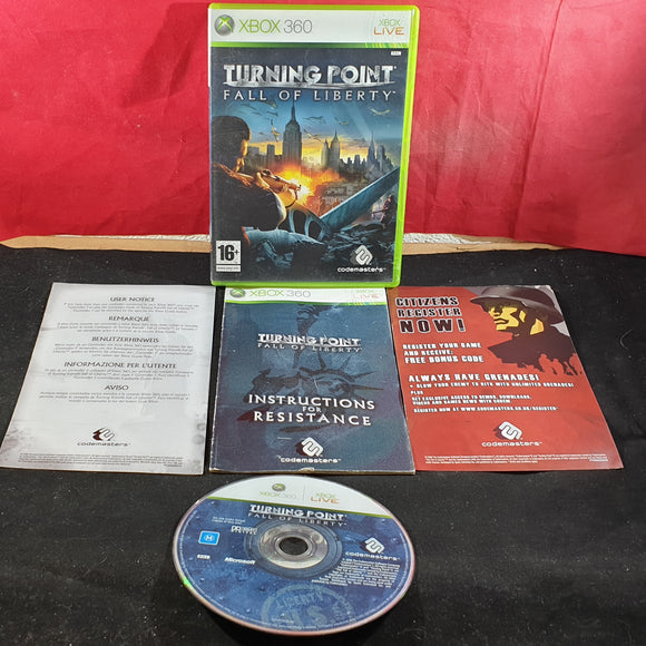 Turning Point Fall of Liberty Microsoft Xbox 360 Game
