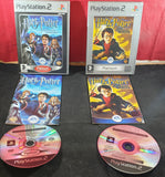 Harry Potter Chamber of Secrets & Prisoner of Azkaban Sony Playstation 2 (PS2) Game Bundle