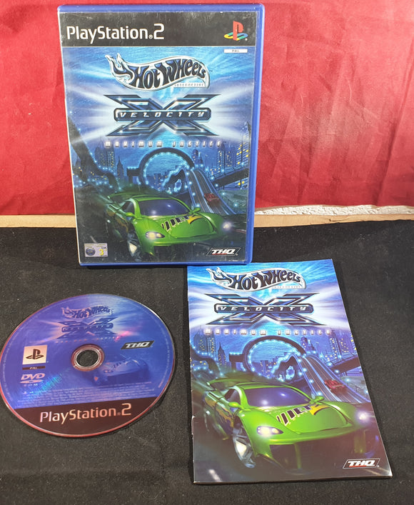 Hot Wheels Velocity X Maximum Justice Sony Playstation 2 (PS2) Game