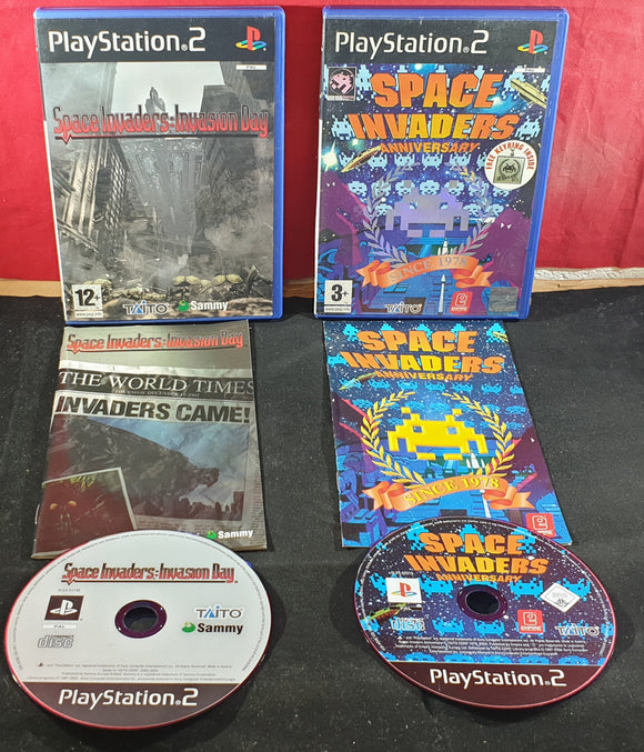 Space Invaders Anniversary & Invasion Sony Playstation 2 (PS2) Game Bundle