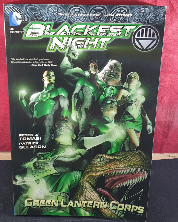 Green Lantern Corps Blackest Night Comic Book