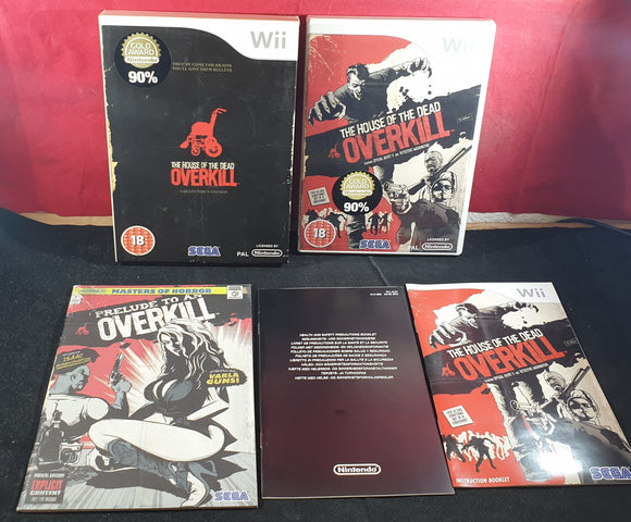 House of the Dead Overkill Collector's Edition Empty Case, Manual & Comic Only Nintendo Wii