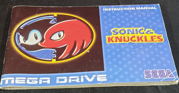 Sonic & Knuckles Sega Mega Drive Spare Manual Only