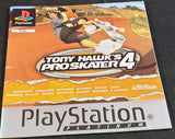 Tony Hawk's Pro Skater 4 Sony Playstation 1 Spare Platinum Manual Only