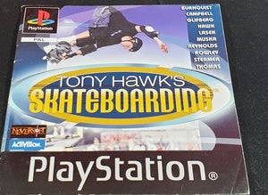 Tony Hawk's Skateboarding Sony Playstation 1 (PS1) Spare Black Label Manual Only