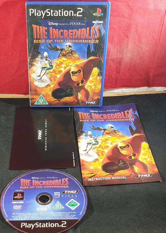 The Incredibles Rise of the Underminer Sony Playstation 2 (PS2) Game