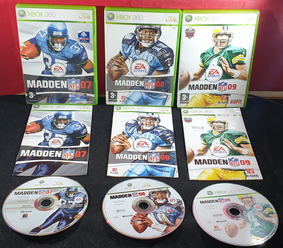 Madden NFL 07 - 09 Microsoft Xbox 360 Game Bundle