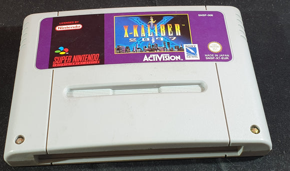 X-Kaliber 2097 Cartridge Only Super Nintendo Entertainment System (SNES) Game