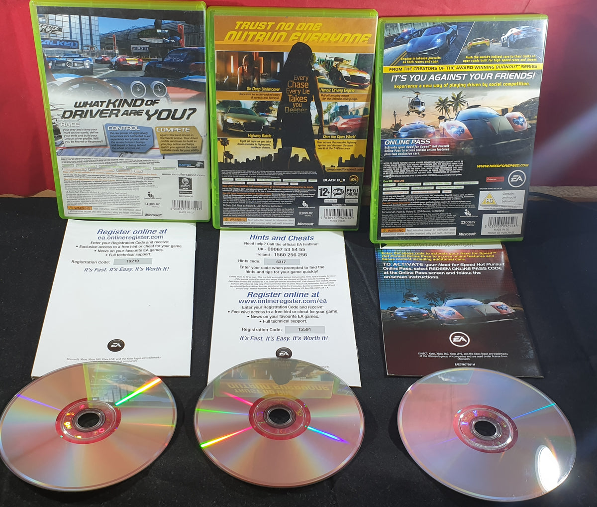Need For Speed Undercover Hot Pursuit Shift Microsoft Xbox 360