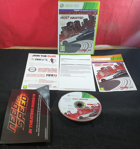 Need for Speed Most Wanted Limited Edition Microsoft Xbox 360 Game
