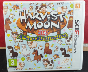 Harvest Moon 3D a New Beginning Nintendo 3DS Empty Case Only