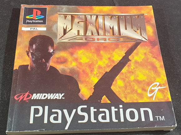 Maximum Force Sony Playstation 1 (PS1) Spare Manual Only