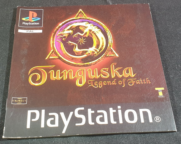 Tunguska Sony Playstation 1 (PS1) Spare Manual Only