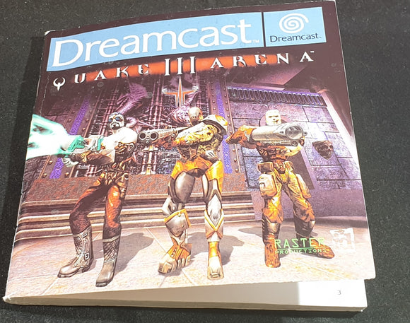 Quake III Arena Sega Dreamcast Spare Manual Only