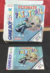 Ultimate Paintball Nintendo Game Boy Color Empty Case & Manual Only