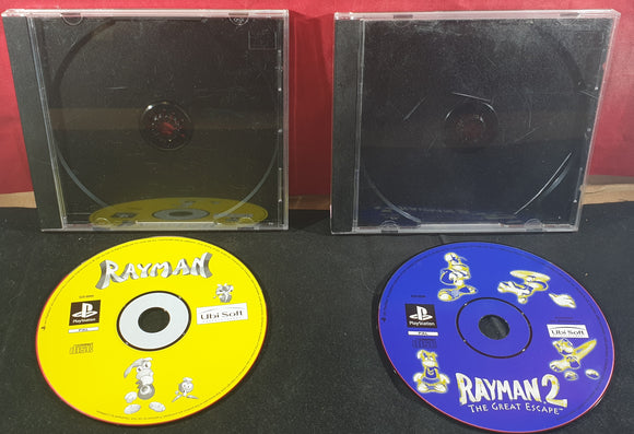 Rayman 1 & 2 Disc Only Sony Playstation 1 (PS1) Game Bundle