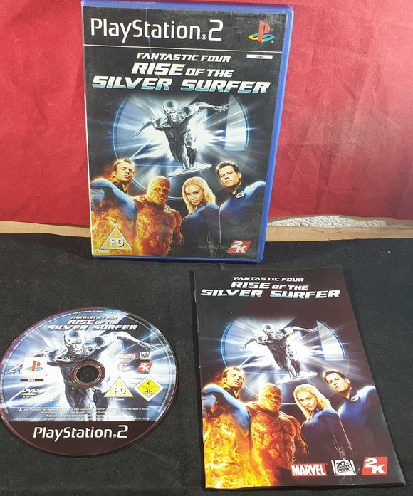 Fantastic Four Rise of the Silver Surfer Sony Playstation 2 (PS2) Game