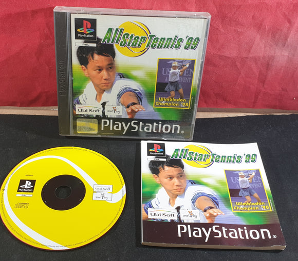 All Star Tennis 99 Sony Playstation 1 (PS1) Game