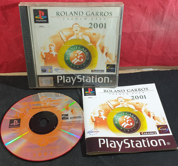 Roland Garros French Open 2001 Sony Playstation 1 (PS1) Game