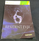 Resident Evil 6 Microsoft Xbox 360 Spare Manual Only