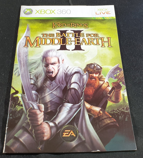 The Lord of the Rings The Battle for Middle Earth II Microsoft Xbox 360 Spare Manual Only