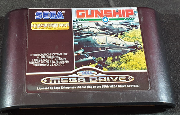 Gunship Cartridge Only Sega Mega Drive Game