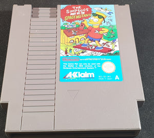 The Simpsons Bart Vs the Space Mutants Cartridge Only Nintendo Entertainment System (NES) Game