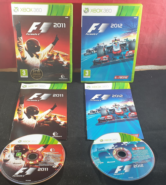 F1 Formula 1 2011 & 2012 Microsoft Xbox 360 Game Bundle