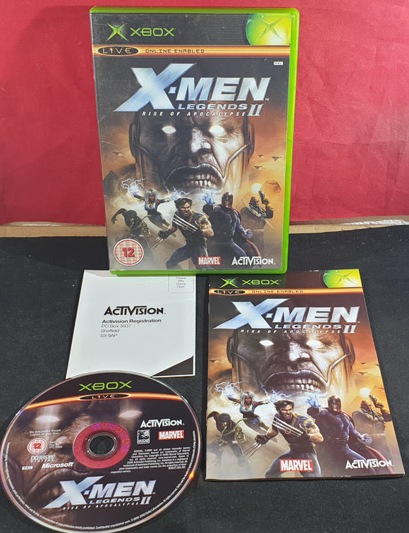 X-Men Legends II Rise of the Apocalypse Microsoft Xbox Game