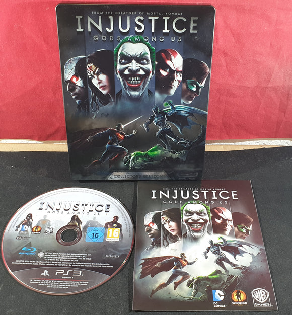 Injustice Gods Among Us Collector's Edition Steel Case Sony Playstation 3 (PS3) Game