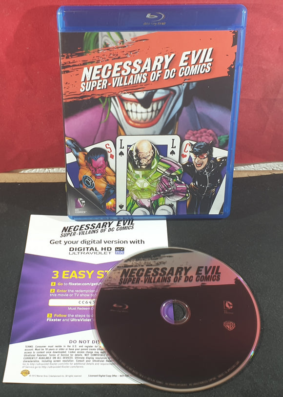 Necessary Evil Super Villains of DC Comics Blu Ray DVD
