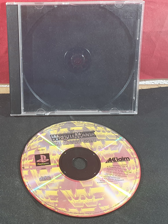 WWF Wrestlemania the Arcade Game Sony Playstation 1 (PS1) Game Disc Only