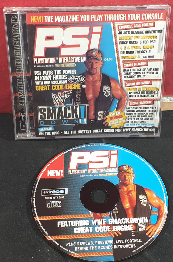 PSi WWF Smackdown Sony Playstation 1 (PS1) RARE Cheat Disc