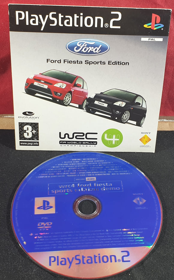 World Rally Championship 4 Sony Playstation 2 (PS2) RARE Demo Disc
