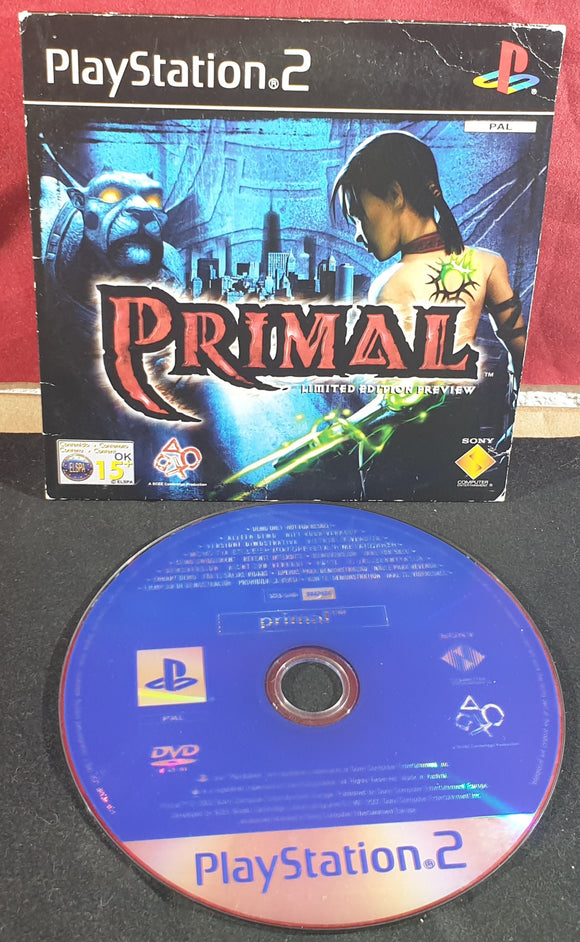 Primal Limited Edition Preview Sony Playstation 2 (PS2) RARE Demo Disc