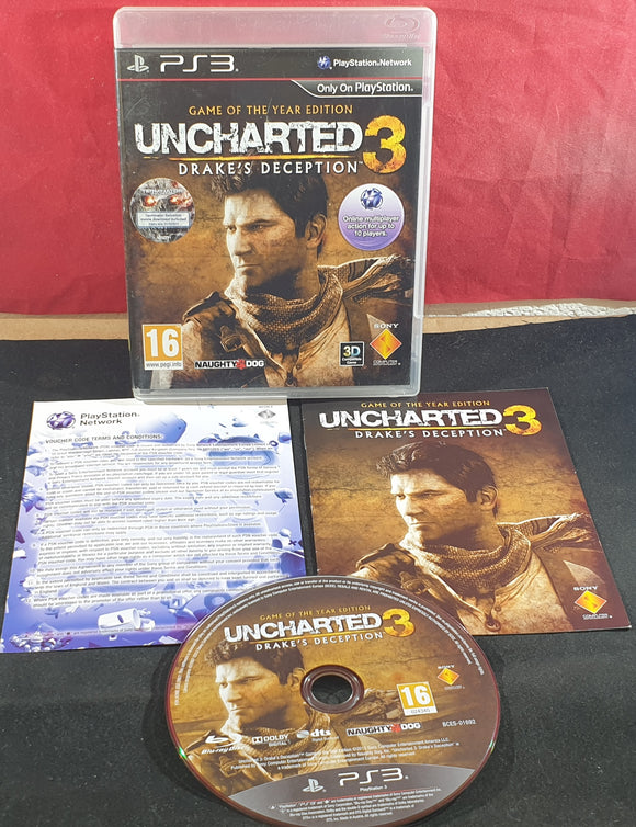 Uncharted 3 Drake's Deception Game of the Year Edition Sony Playstation 3 (PS3) Game
