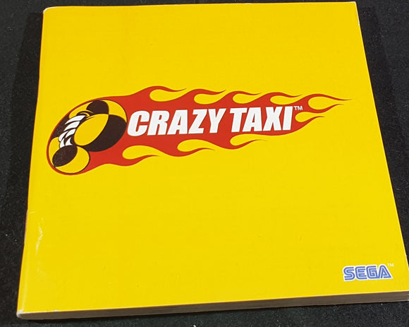 Crazy Taxi Sega Dreamcast Spare Manual Only