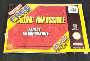 Mission Impossible Tips Book Nintendo 64 (N64) RARE