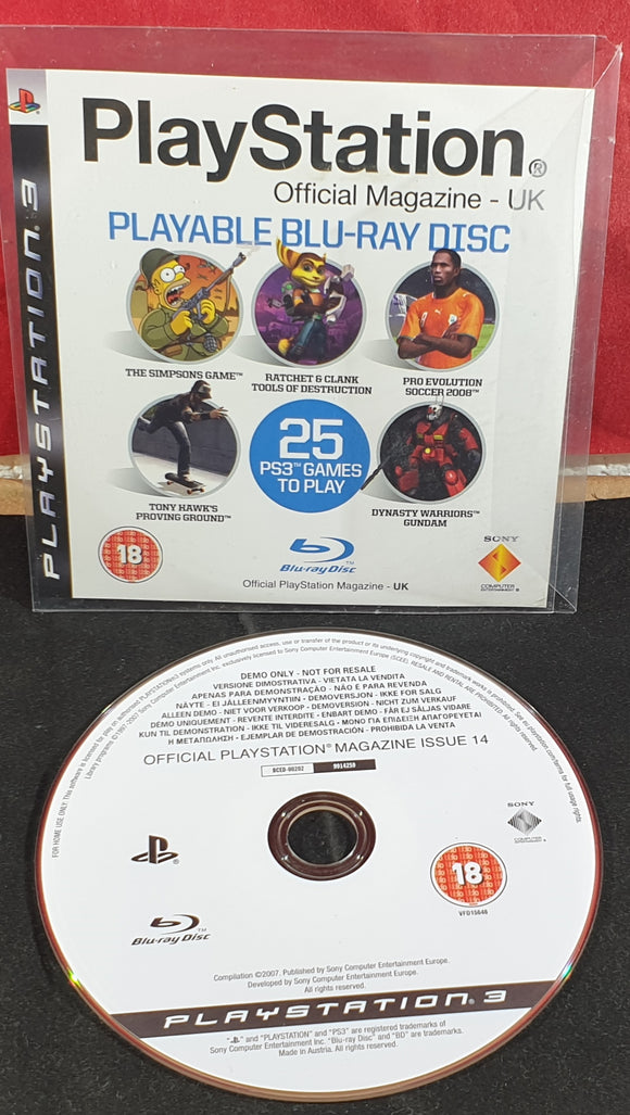 Playstation Magazine Sony Playstation 3 (PS3) Demo Disc Issue 14