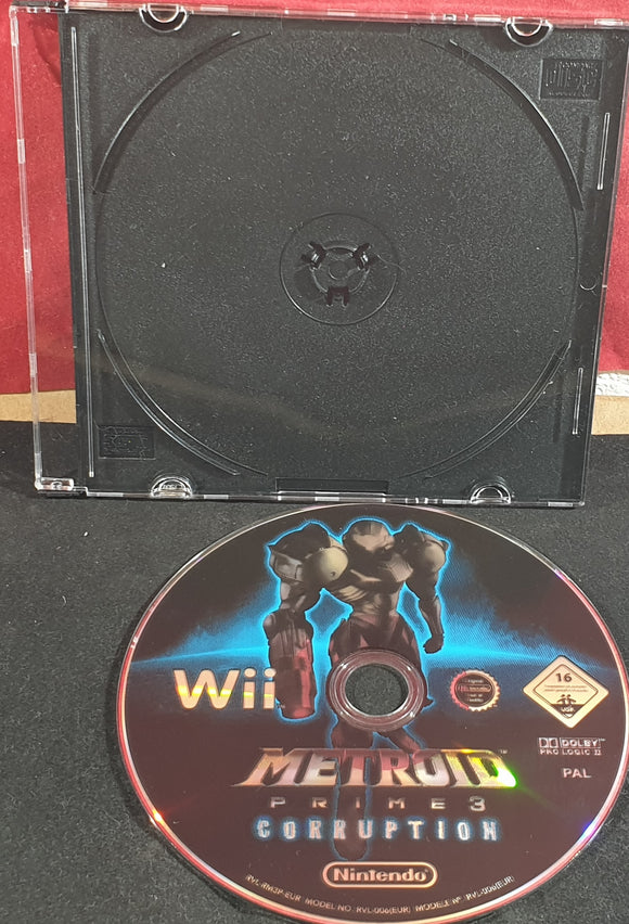 Metroid Prime 3 Corruption Nintendo Wii Game Disc Only