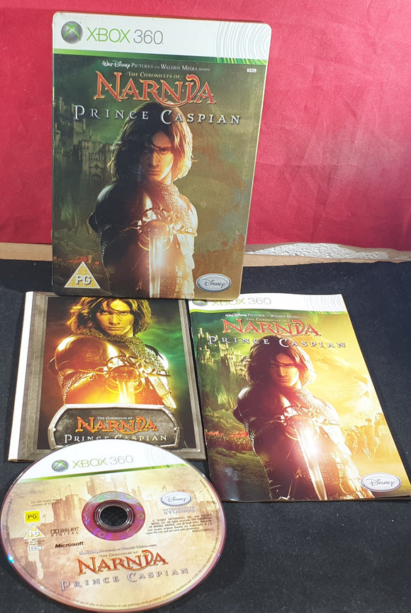 The Chronicle of Narnia Prince Caspian Steel Case with Character Book Microsoft Xbox 360 Game