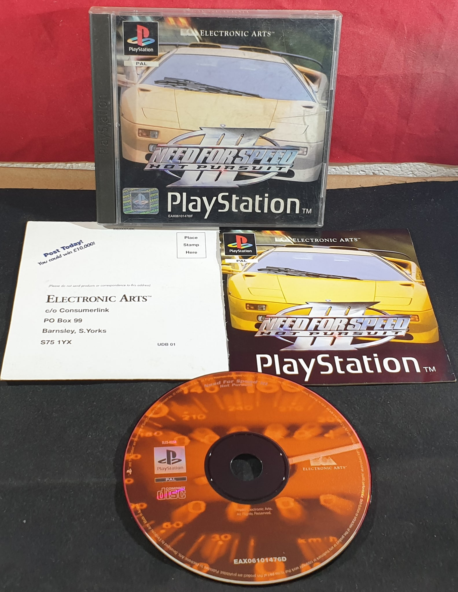 Need For Speed Iii Hot Pursuit Sony Playstation 1 Ps1 Game