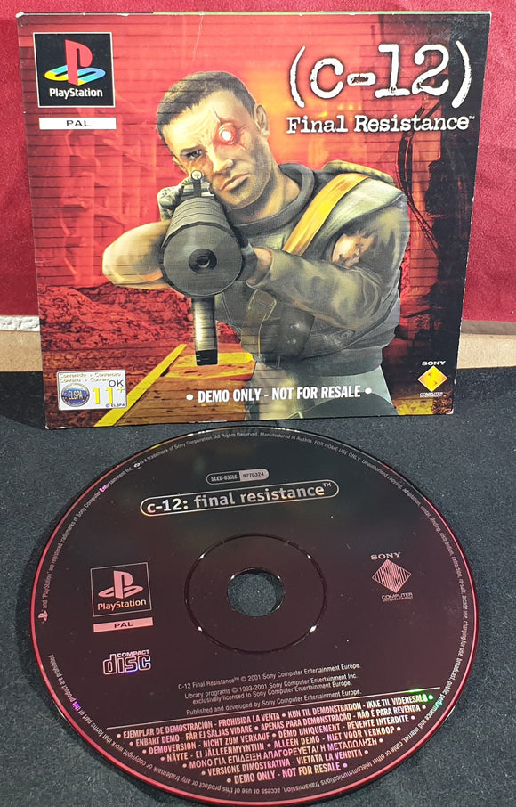 C-12 Final Resistance Sony Playstation 1 (PS1) Demo Disc