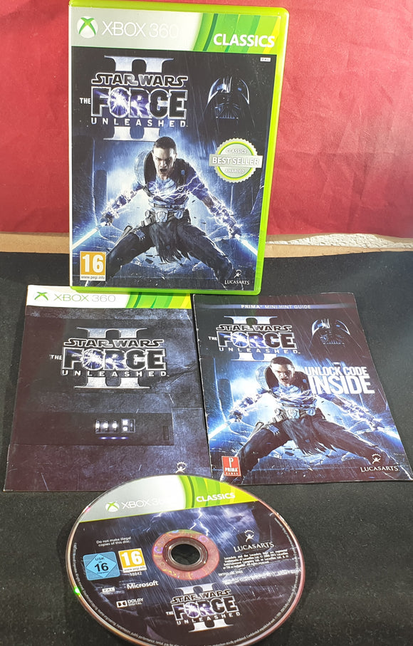 Star Wars the Force Unleashed II with RARE Mini Hint Guide Microsoft Xbox 360 Game