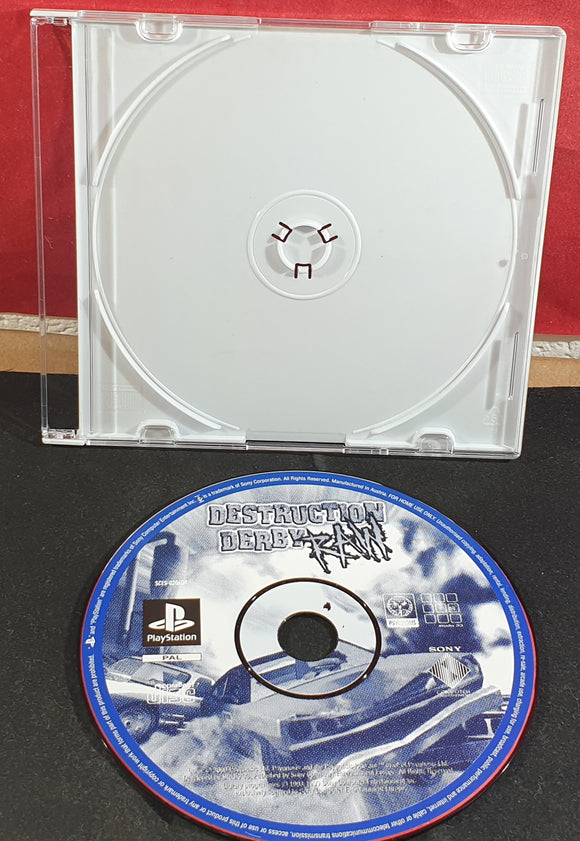 Destruction Derby Raw Sony Playstation 1 (PS1) Game Disc Only